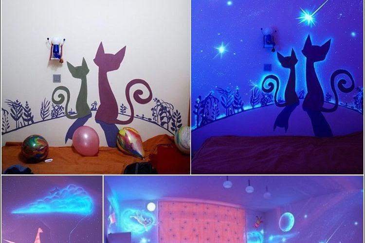 Inspirasi Hiasan Unik dengan Memanfaatkan Cat Glow In The Dark